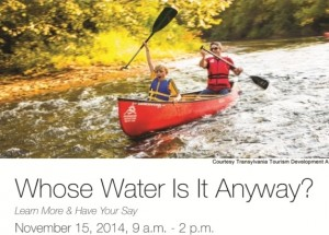 Cover photo for Whose Water Is It Anyway Conference Report to the Transylvania County Board of Commissioners