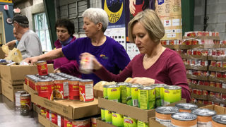 Image of food bank workers