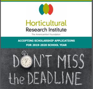 Horticultural Research Institute Scholarhip Announcement
