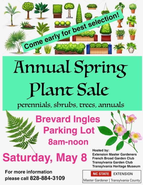 Master Gardener Spring Plant Sale Flyer 2021